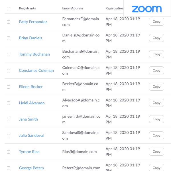 Booked clients will automatically receive an invite email confirmation from Zoom